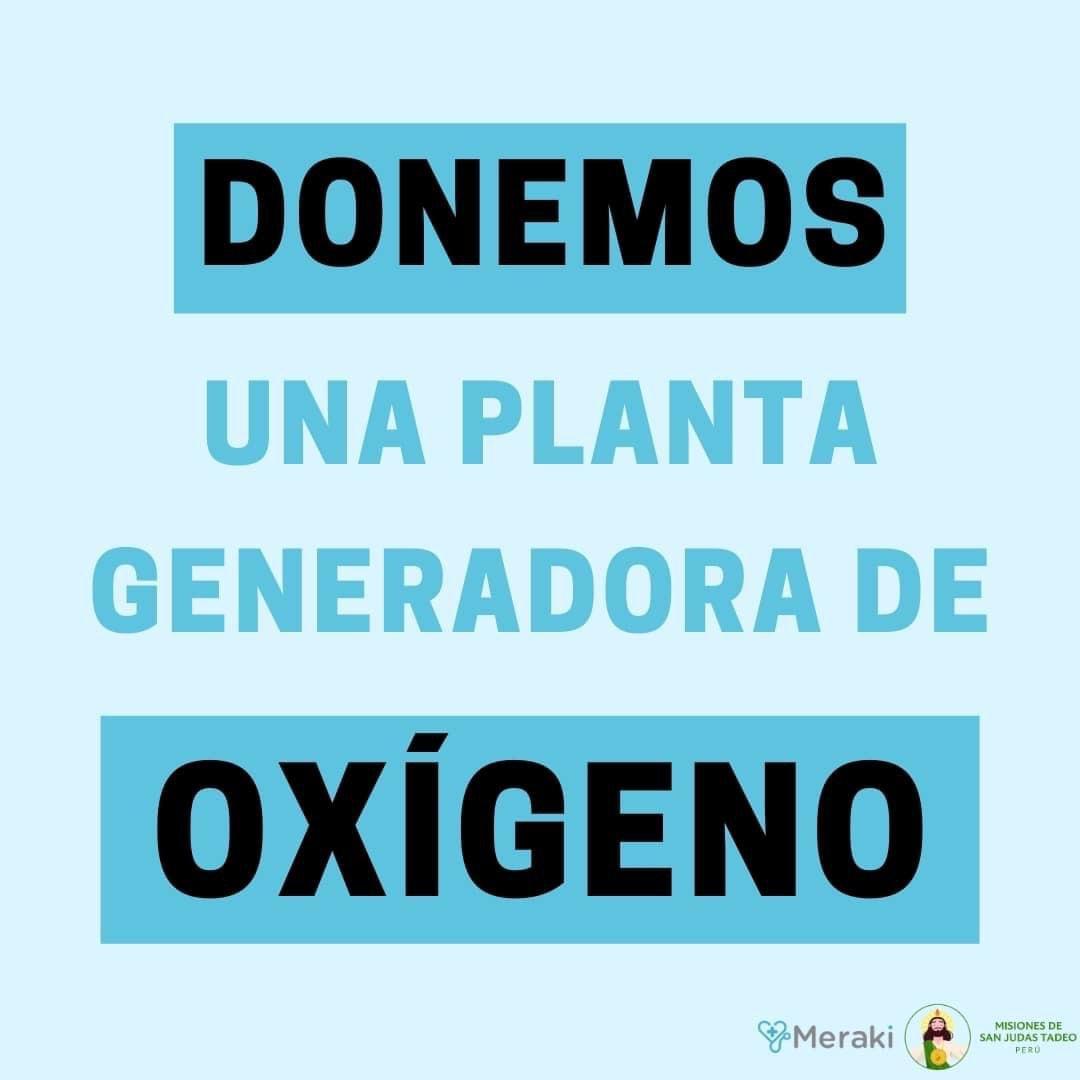 Donemos una planta generadora de oxígeno